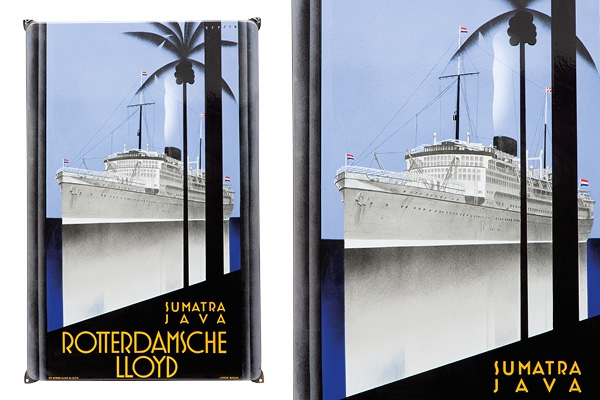 Expert's voice | An exceptional Art Deco enamel advertising sign Rotterdamsche Lloyd at auction